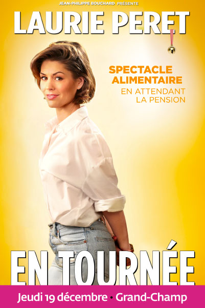 Laurie Peret dans Spectacle alimentaire en attendant la pension